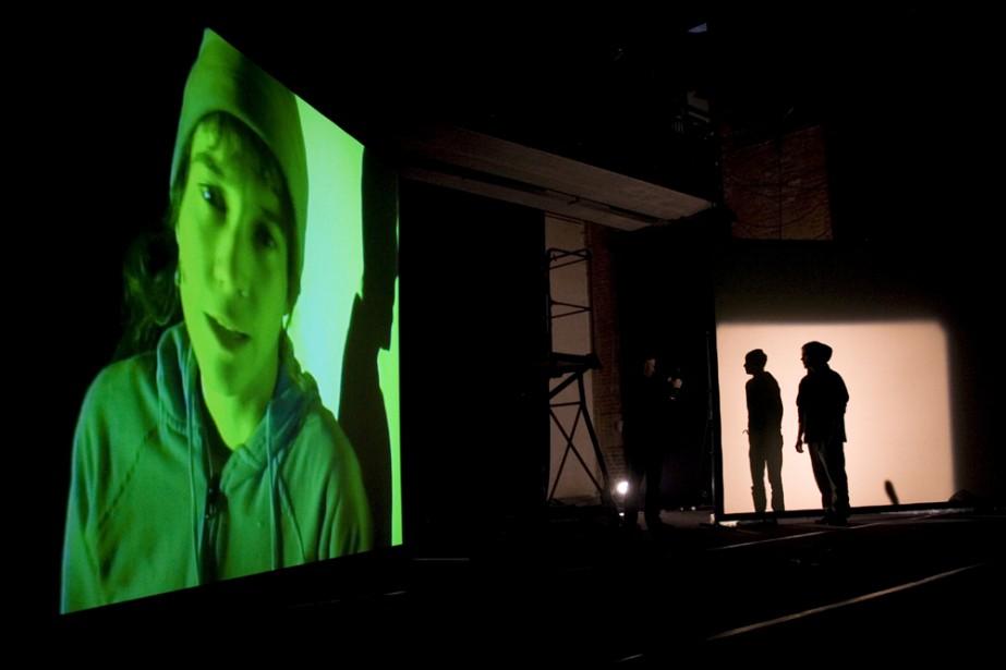 La présentation de Kiwi, théâtre-film de Daniel Danis,... (Photo: Anne Ransquin)