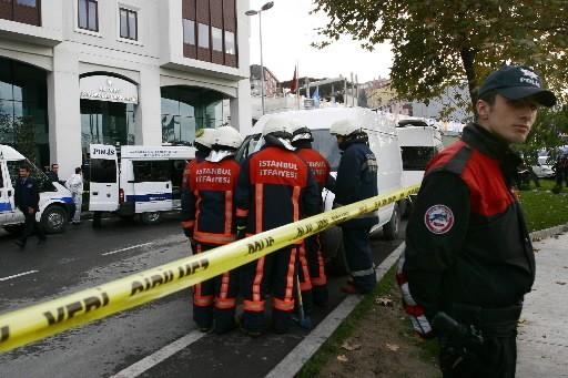 La police a érigé un périmètre de sécurité.... (Photo: AFP)