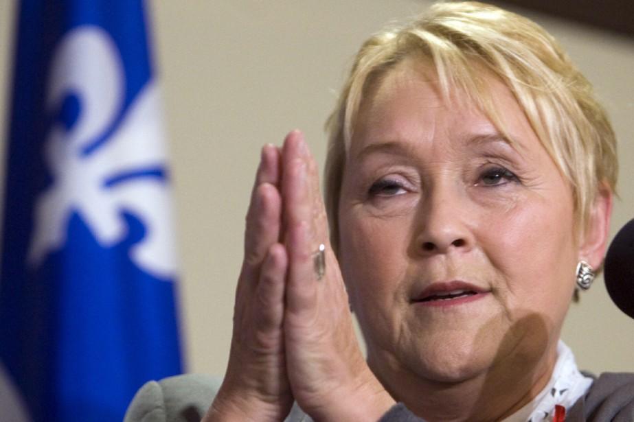 La chef du PQ Paulint Marois était à... (Photo La Presse Canadienne)