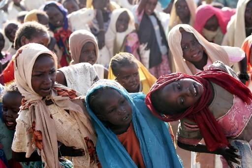 Des enfants soudanais déplacés dans des camps.... (Photo: AFP)