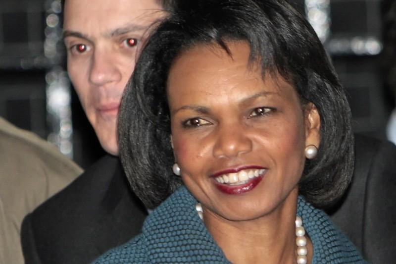 La secrétaire d'État américaine Condoleezza Rice étaiten visite... (Photo: AFP)
