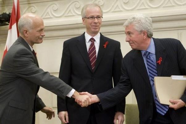 Les trois chefs de parti se sont entendus... (Photo PC)