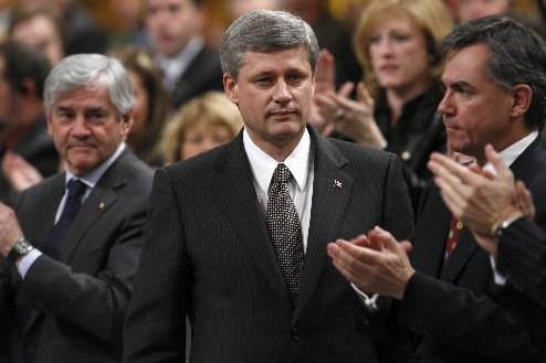 Stephen Harper a été applaudi par les membres... (Photo: Reuters)