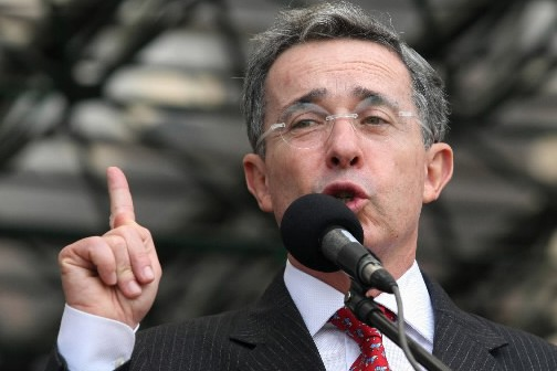 Le président colombien Alvaro Uribe.... (Photo: Reuters)
