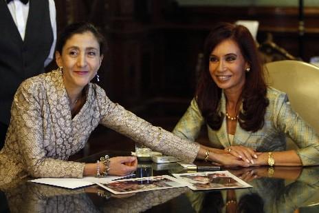 Ingrid Betancourt s'est entretenue avec la présidente argentine... (Photo: Reuters)