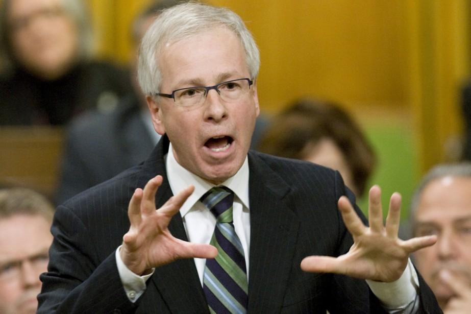 Sétphane Dion lors de la période de questions... (Photo La Presse Canadienne)