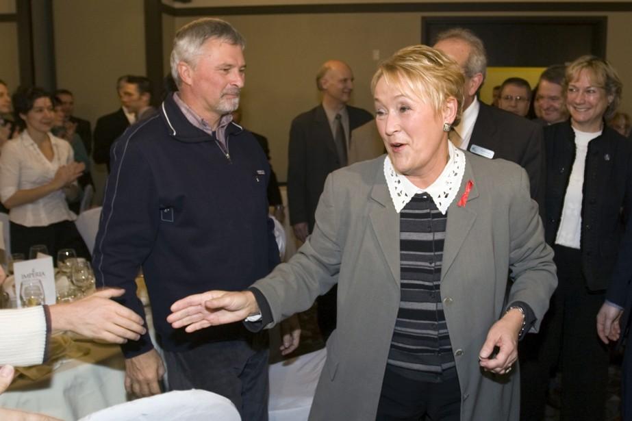 La chef du PQ, Pauline Marois, estime que... (Photo La Presse Canadienne)