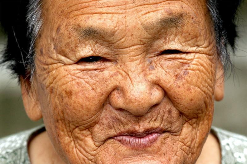 Une dame âgée au Japon... (EPA)