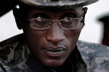 Laurent Nkunda, chef des rebelles... (Photo: AFP)