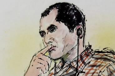 Un croquis d'Ahmed Ressam réalisé en 2001.... (Photo: archives AP)