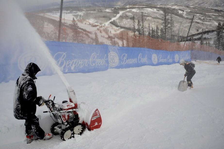 Le super-combiné de Coupe du monde de ski alpin messieurs de... (Photo: AFP)