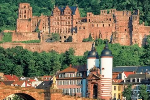 La vallée encaissée où se niche la vieille... (Photo: fournie par l'offfice de tourisme de Heidelberg)