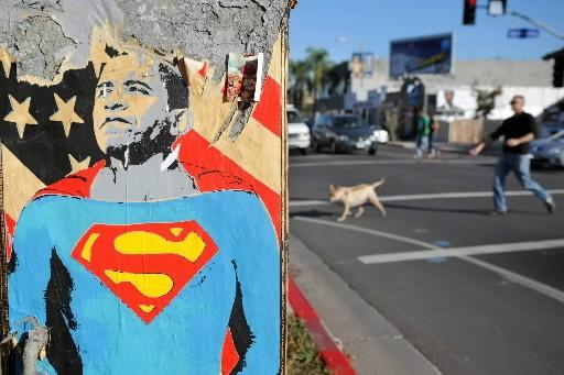 Au terme d'une longue et tumultueuse campagne électorale, Barack... (Photo: AFP)
