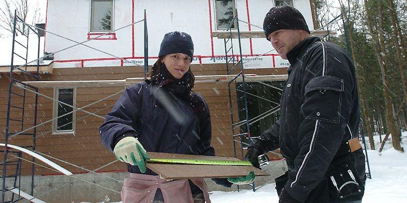 Annie Lafrance et Jean-François Rivard découvrent les joies... (Photo Jean-Marie Villeneuve, Le Soleil)