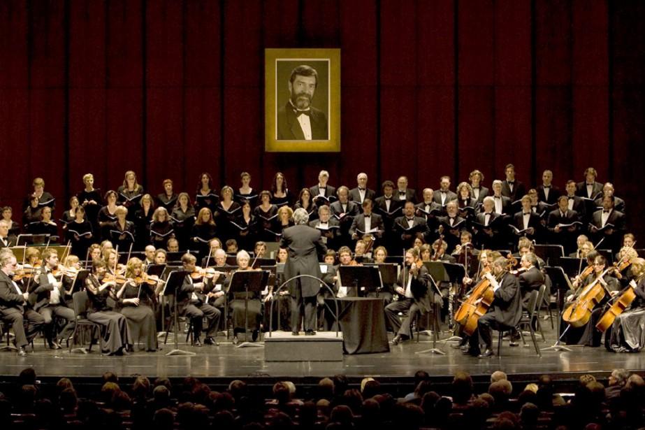 L'Orchestre Métropolitain du Grand Montréal et le Choeur... (Photo: André Tremblay, La Presse)