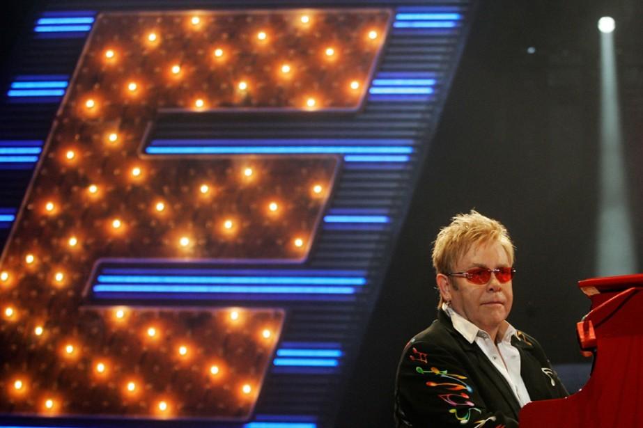 Le spectacle The Red Carpet de Elton John... (Photo: AFP)