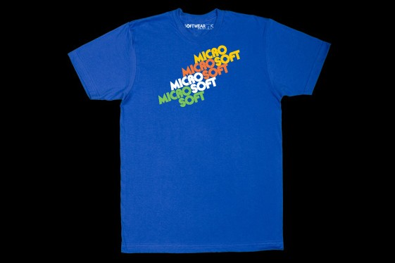 Un t-shirt de «Softwear by Microsoft»...