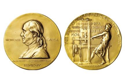 La médaille d'or du prix Pulitzer...