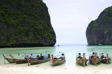Maya Beach, dans l'île de Ko Phi Phi... (Photo: archives La Presse)
