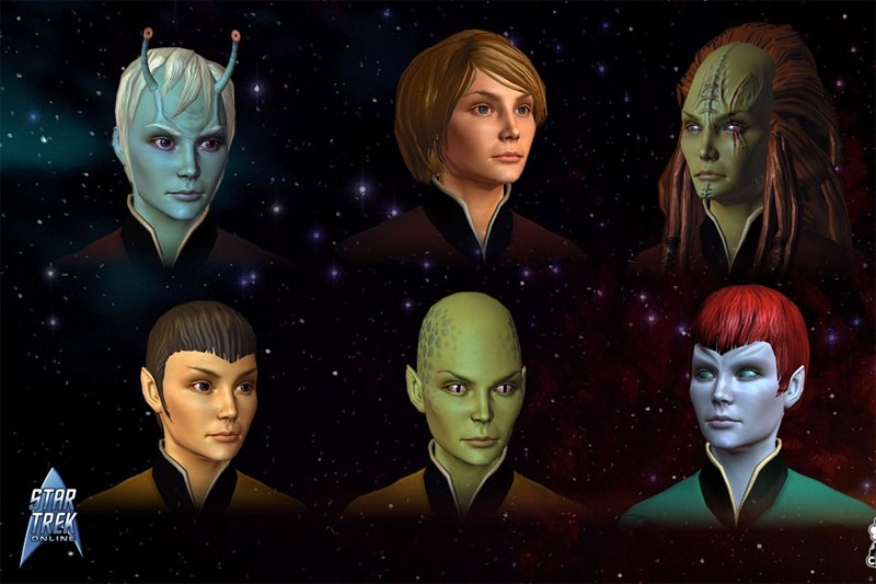 Des personnages de Star Trek Online... (Gamespot.com)