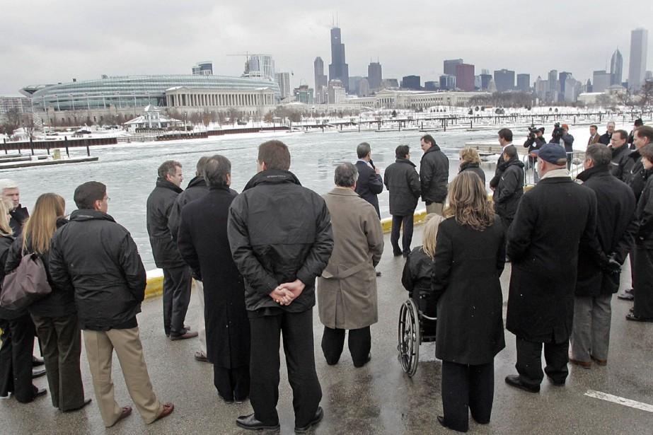 Les membres du CIO lors d'une visite à... (Photo: Bloomberg)