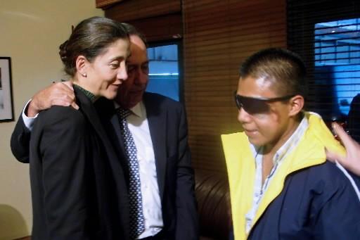 Ingrid Betancourt et l'ancien membre des FARC Wilson...