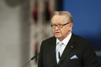 Martti Ahtisaari... (Photo: AFP)