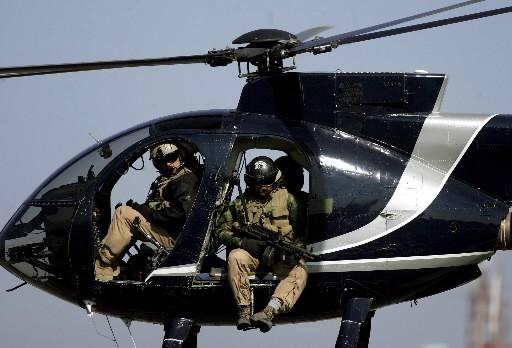 Des membres de firme de sécurité Blackwater.... (Photo: AFP)