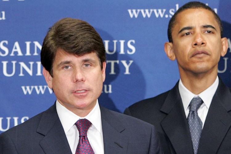 Rod Blagojevich etBarack Obama en juin 2005.... (Photo: AP)