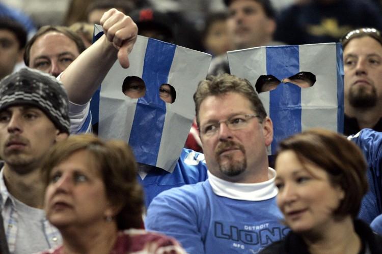 Les partisans des Lions n'ont pas eu beaucoup... (Photo: AP)