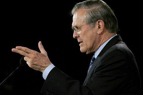 L'ancien secrétaire américain à la Défense, Donald Rumsfeld.... (Photo: Archives AFP)
