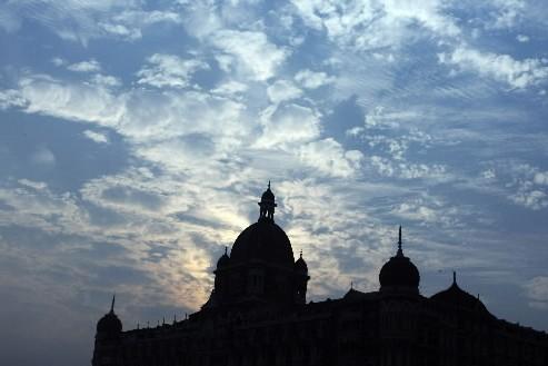 Une partie du palace Taj Mahal attaqué le mois dernier à Bombay... (Photo: AFP)