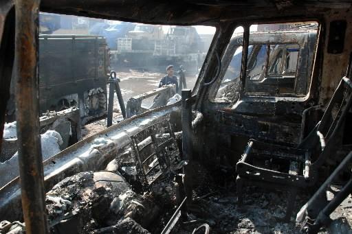 Des combattants islamistes présumés ont attaqué tôt samedi un... (Photo: AP)