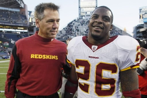 L'entraîneur-chef des Redskins de Washington, Jim Zorn, et... (Photo: AP)