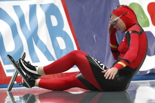 La série de podiums de Jenny  Wolf... (Photo: AP)