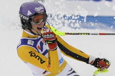 Maria  Riesch était plus que satisafaite de... (Photo: AP)