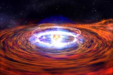 Illustration d'un trou noir fournie par la Nasa.... (Photo: archives AP)