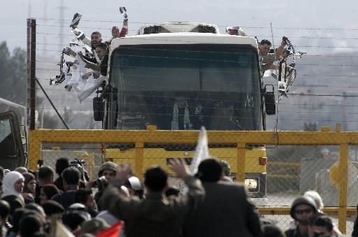 Des prisonniers viennent tout juste d'être libérés.... (Photo: AFP)