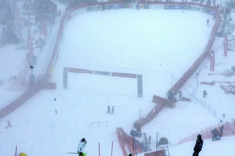 Le slalom messieurs comptant pour la Coupe du monde de ski alpin,... (Photo: AFP)