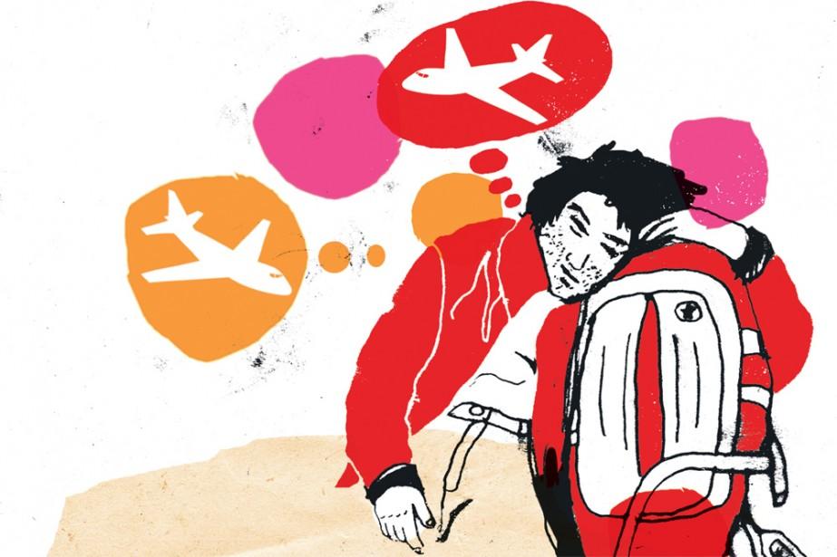 Votre vol est cloué au sol par... (Illustration: Francis Léveillée, La Presse)