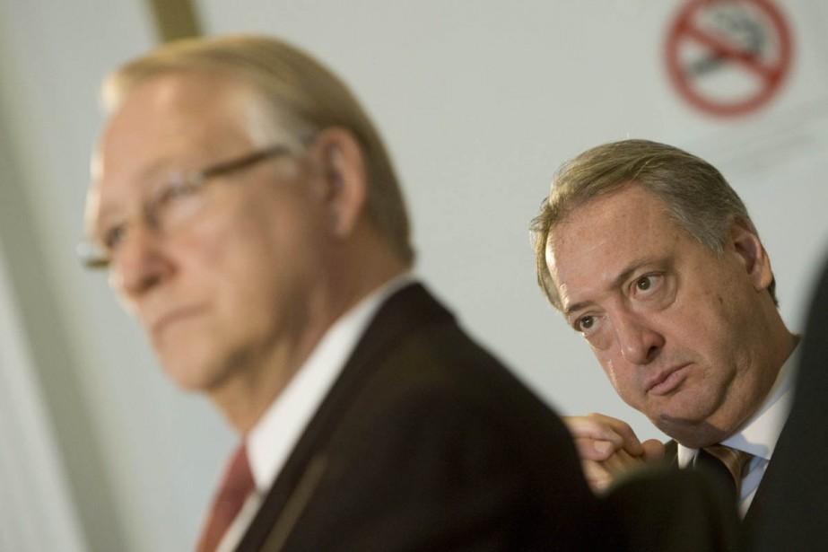 Le maire de Montréal, Gérald Tremblay, et Claude... (Archives La Presse)