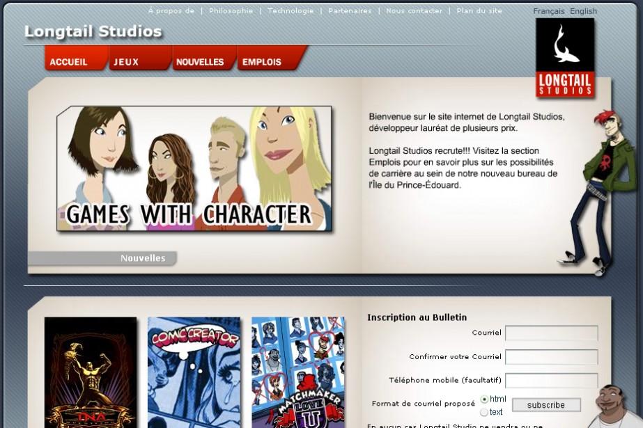 Le site de Longtail Studios...