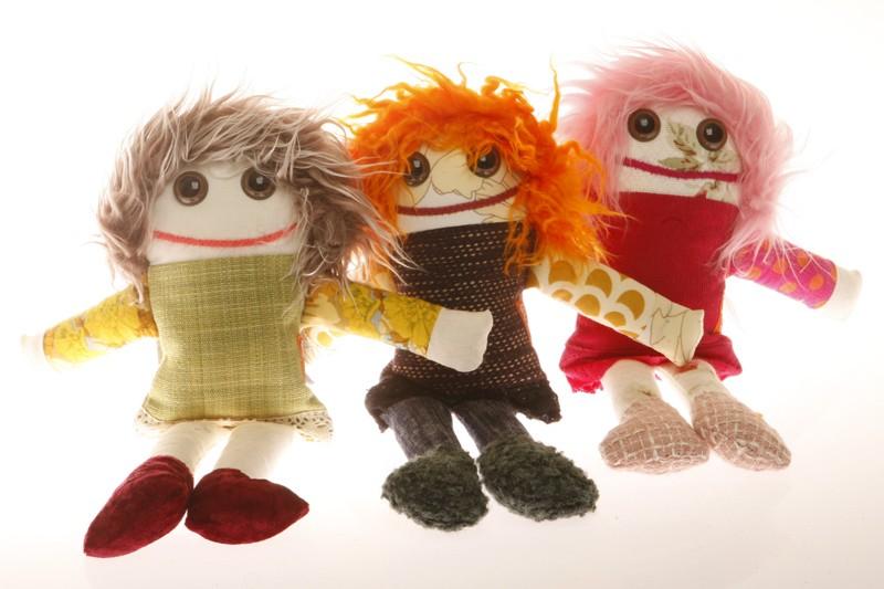 Angèle, Lison et Mathilde, trois poupées de chiffon... (Photo: Martin Chamberland, La Presse)