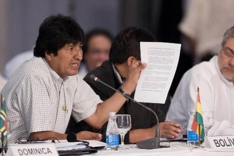 Evo Morales... (Photo: AFP)