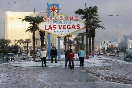 Las Vegas sous la neige.... (Photo: Reuters)