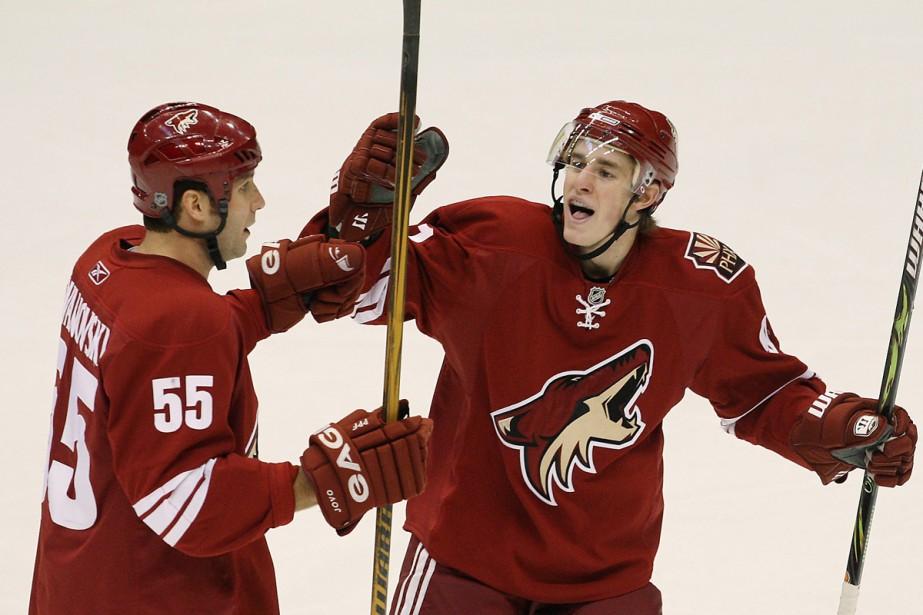 Kyle Turris et Ed Jovanovski... (Photo: AP)