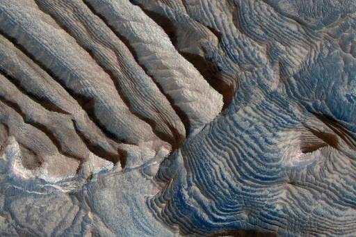 Image des cratères composés de sédiments dans la... (Photo: AP)