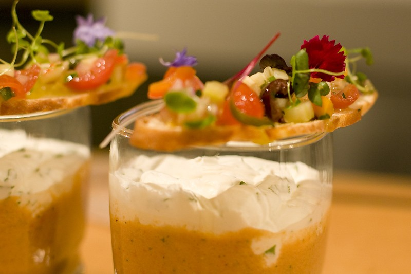 Gaspacho de tomates, crème à la coriandre... (Photo: André Tremblay, La Presse)