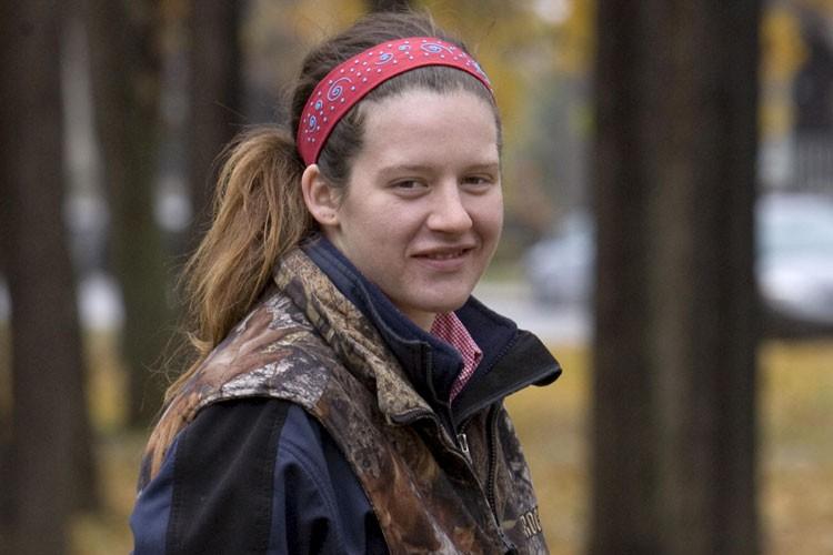 Avec sa chevelure multicolore et son sourire... (Photo: Alain Roberge, La Presse)