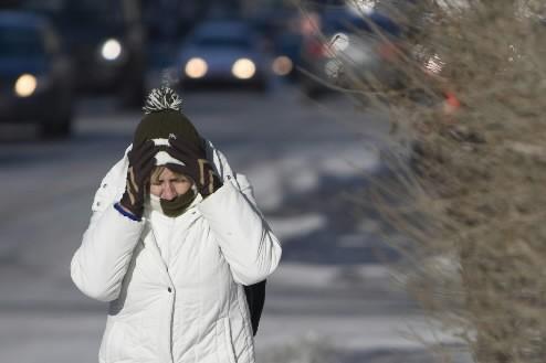 C'est dans un froid intense et les deux... (Photo: Ivanoh Demers, La Presse)